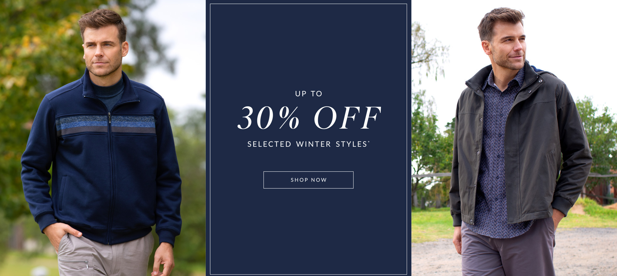Shop selected styles up to 30% Off